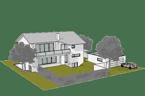 Baugenehmigungsplanung EFH Gerolfing 2017
