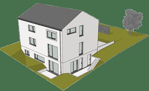 Baugenehmigungsplanung EFH Grossmehring 2017