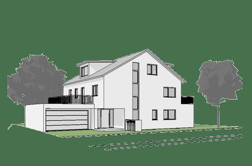 Baugenehmigungsplanung EFH Oberhaunstadt 2018